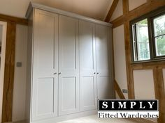 Beautfil painted light grey shaker fitted wardrobes by Simply Fitted Wardrobes