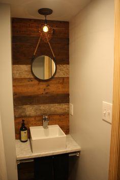 Basement Bathroom- Reclaimed Wood