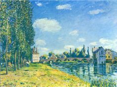 """""""TheStrawRent"""" - Alfred Sisley is a French/British painter who painted lots of landscapes."""