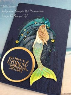 Birthday Ideas For Her Stampin Up Ideas Birthday Ideas For Her, Kids Birthday Cards, Handmade Greetings, Greeting Cards Handmade, Cool Ideas, Nautical Cards, Stamping Up, Diy Cards, Scrapbook Cards