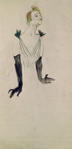 Yvette Guilbert (1865-1944) by Henri de Toulouse-Lautrec