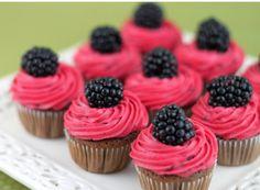 Black Raspberry cupcakes with black raspberry frosting...mmmm
