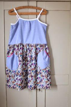 simple lose smock dress with liberty print fabric