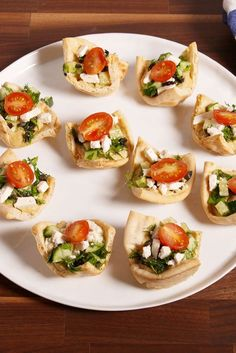 Greek Pita Cups - easy app to bring to a party!