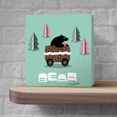 BearBySugarfree© kids room art available at Etsy!