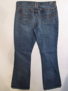 #470-Women's American Eagle Outfitters Jeans 100% Cotton Size-8 Long #AmericanEagleOutfitters #BootCut