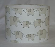 John Lewis Eli Elephant Fabric Lampshade Various Sizes Handcrafted