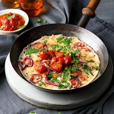 Omelett mit schnellem Tomatenchutney