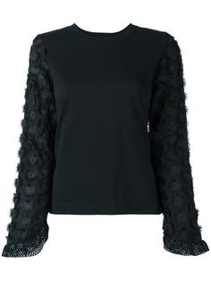 Shop See By Chloé embellished sleeve top.
