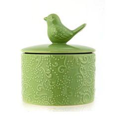 Better Homes and Gardens Bird Ceramic Jar Candle, Green Palm - Walmart.com