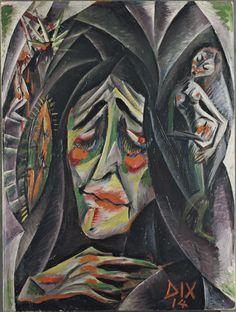 Otto Dix - The Nun, 1914.