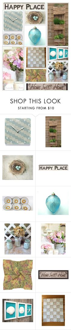 ETSY Happy Place by belladonnasjoy on Polyvore featuring interior, interiors, interior design, home, home decor, interior decorating, Cultura, Pottery Barn, Primitives By Kathy and vintage