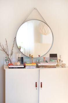 Mirror. Mimmi Staaf — Furniture Designer & Store Owner, Apartment & Store, Midsommarkransen, Stockholm.