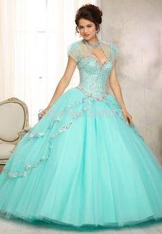 647c2d593 50 mejores imágenes de vestidos de 15 color azul