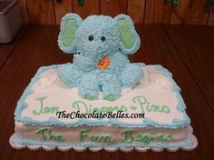 Blue Elephant Cake - Cakes Picture