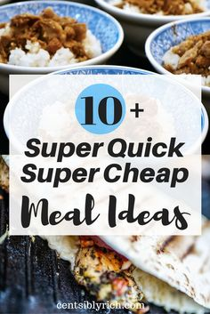 No need for take out! Here are 10+ quick and cheap meals for the busiest of days!