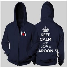 Keep calm and love Maroon 5 hoodie for teens rock band plus size