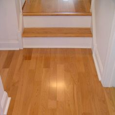 white oak stair treads | ... stair tread to match the Baywood, with contrasting white stair risers