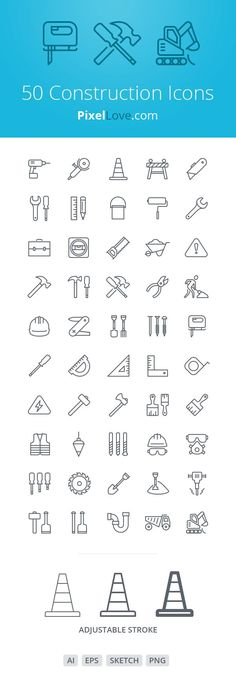 Take a look at this Set Of Free Construction Icons For iOS They has been meticulously designed on a pixel grid at 2 sizes for tab bars and toolbars Social Design, Web Design, Icon Design, Logo Design, Logo Construction, Construction Business, Construction Birthday, Png Vector, Visual Identity