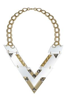 Large Plastic V Shape Collar - Jewelry  - Bags & Accessories
