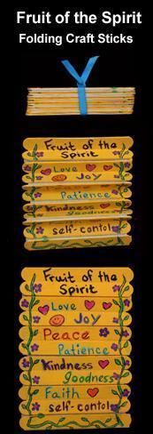 When we talk about respect for God we could adapt this Fruit of the Spirit Folding Craft Stick Bible Craft. We could write attributes of God on the sticks. Catholic kid activities and crafts Bible crafts religious education DIY Bible Story Crafts, Bible School Crafts, Bible Crafts For Kids, Vbs Crafts, Church Crafts, Camping Crafts, Craft Stick Crafts, Craft Ideas, Kids Bible