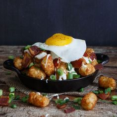 15 Way Cool Ways to Dress Up Tater Tots  -Bacon, Egg, and Cheese Breakfast