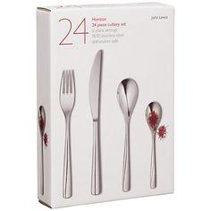 Buy John Lewis Horizon Cutlery Set, 24 Piece from our Cutlery range at John Lewis & Partners.