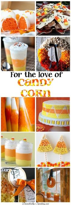So Cute! For the Love of Candy Corn. Fabulous Candy Corn inspired DIY craft projects, recipes,home decor, simple Halloween and fall decorations. All in one place!