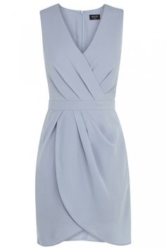 bridesmaid dress. Something they can wear more than once. Oasis Caitlin Drape Crepe Shift Dress
