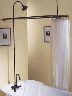 shower curtain around clawfoot tub