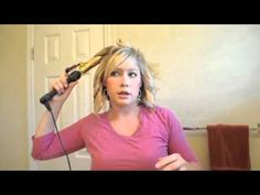 I followed the tips in this tutorial on HOW to curl your hair with a curling iron, and I must say, my hair turned out very similar to hers. She has other very helpful HAIR tutorials on her blog. I LOVE it! Check out the video on HOW to curl your hair with a flat iron.