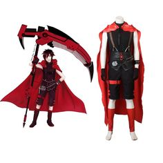 Adult's Outfit RWBY Red Trailer Ruby Rose Cosplay Costume Man Version for Carnival Party Garnet Cosplay, Rwby Cosplay, Cosplay Costumes, Halloween Costumes, Rwby Red Trailer, Unique Costumes, Ruby Rose, Party, Outfits