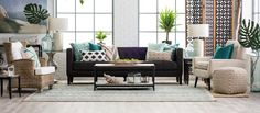 Contemporary Living Room with Printed with Geometric Cording Details Decorative Throw Pillow, Quatrefoil Floor Screen, Carpet