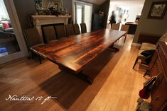 Canadian harvest table company - barn board | Reclaimed Wood Trestle Epoxy Tables made from Barn Boards - beautiful!