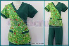 molde para hacer filipina quirúrgica - Buscar con Google Scrubs Outfit, Scrubs Uniform, Nurse Scrubs, Healthcare Uniforms, Uniform Clothes, Underwear Pattern, Neck Designs For Suits, Uniform Design, Mode Hijab