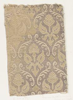 italian half-silk #textile, Italy, 16th century, metmuseum