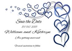 Personalised SAVE THE DATE Wedding Cards