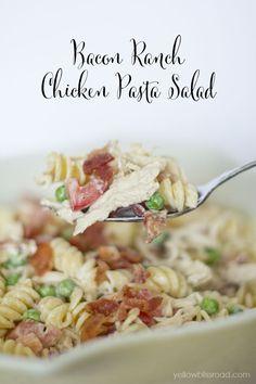 Bacon Ranch Chicken Pasta Salad - The perfect summer lunch or dinner! (Chicken Baking Pasta)