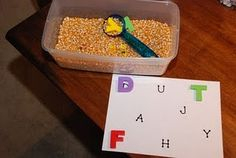 We will probably be using these tot trays for the next two weeks as long as they keep A's attention. There are several new activites we wil. Preschool Letters, Learning Letters, Kindergarten Literacy, Early Literacy, Fun Learning, Alphabet Activities, Literacy Activities, Sons Initiaux, Tot Trays