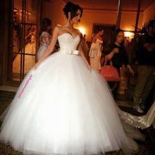 Luxo cristal frisado querida Bow caixilhos branco Organza vestido de baile vestidos de casamento vestido de noiva(China (Mainland))