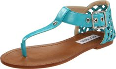 My next pair of turquoise sandals. Steve Madden Women's Sutttle Thong Sandal. Have these in white!!