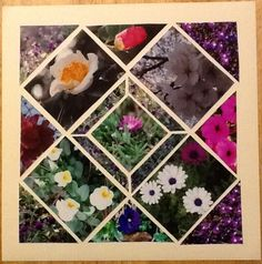 Completely scrap lifted layout.  Lea France templates.  Stained glass at an angle