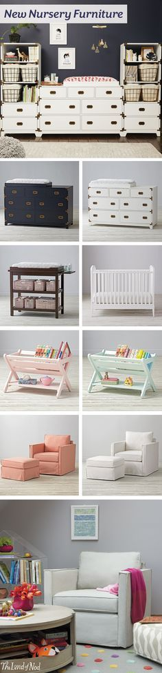 Create one cozy nursery for baby with our new nursery furniture collection. All of our cribs and bassinets are stylish yet versatile enough for any design scheme. A dresser can create the perfect focal point, and it even doubles as versatile baby furniture, too. Plus, adding a changing table topper customizes your piece by transforming it into a baby changing table. And, if you want that ideal accent piece, a rocking chair or glider is modern yet makes the comfiest seat in the house.