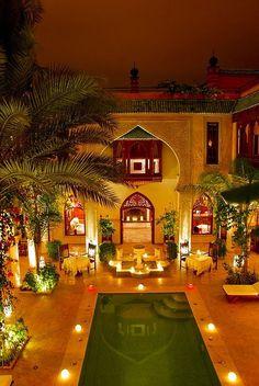 Somebody's gorgeous Marrakesh Riad. Beautiful shot.