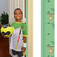 PeekaBoo [Mikey the Monkey] Growth Chart: Track and Measure Height by MomApproved on Etsy