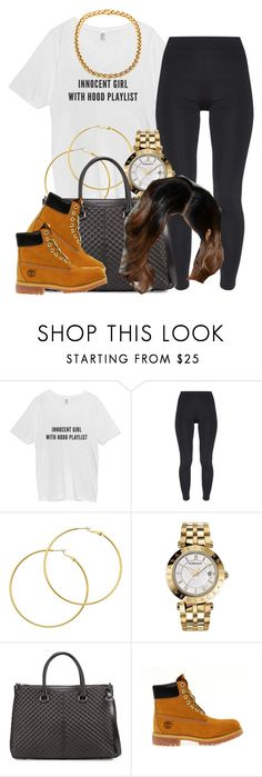 """""""✨"""" by trillest-queen ❤ liked on Polyvore featuring TWISTY PARALLEL UNIVERSE, Melissa Odabash, Versace, Charles Jourdan, Timberland, women's clothing, women's fashion, women, female and woman"""