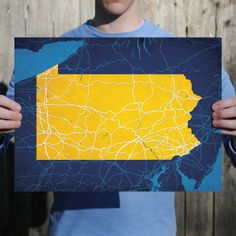 Pennsylvania | City Prints Map Art