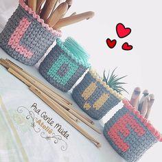 Crochet Bowl, Crochet Basket Pattern, Crochet Amigurumi, Crochet Teddy, Love Crochet, Crochet Gifts, Crochet Patterns, Finger Knitting, Loom Knitting