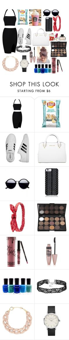 """Untitled #2827"" by marta-moreno-1 ❤ liked on Polyvore featuring adidas, Michael Kors, Savannah Hayes, Charlotte Russe, Maybelline, Zoya and DIANA BROUSSARD"