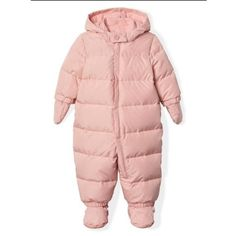 Gap Baby Ecopuffer Down Snowsuit Pink Dust Cute Baby Girl Outfits, Toddler Outfits, Baby Girls, Girls Clothes Shops, Gap Outfits, Baby Snowsuit, Snow Suit, Fashion Essentials, Baby Gap
